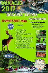 Kolonia letnia_Mazury 17-29.07.2017r