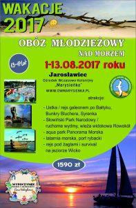 Obóz młodzieżowy_Jarosławiec 1-13.08.2017r.